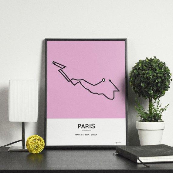 2017 Semi de Paris parcours art print