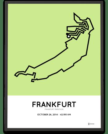 2014 Frankfurt marathon course print