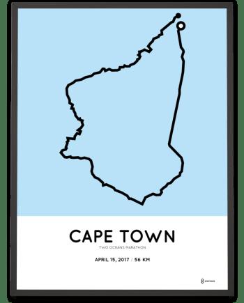 2017 2 Oceans marathon course print