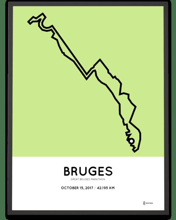2017 Great Bruges marathon route poster