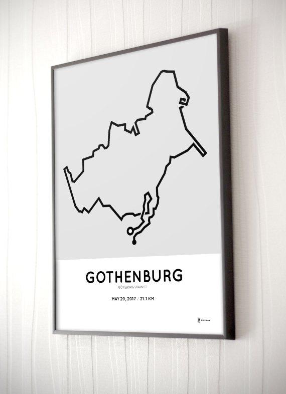 2017 Goteborg half marathon course print