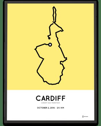 2016 Cardiff half marathon course poster