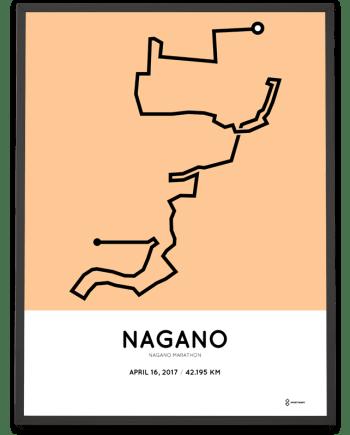 2017 Nagano marathon course poster