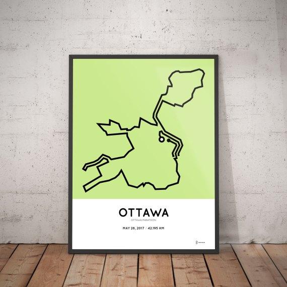 2017 ottawa marathon course poster
