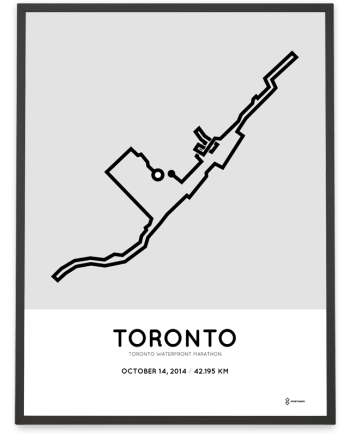 2014 Toronto Waterfront marathon course art print