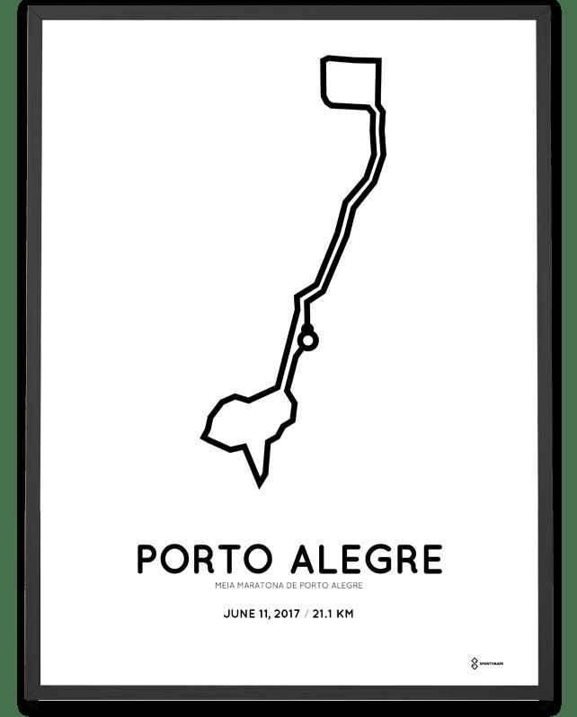 2017 Porto Alegre Half Marathon print