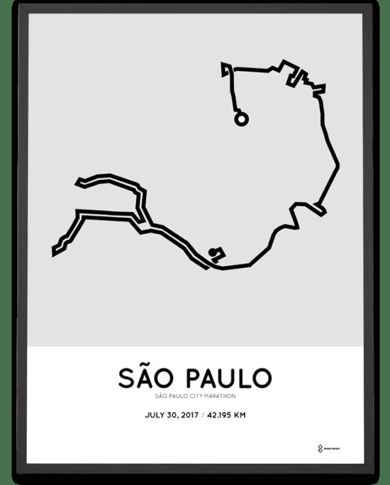 2017 Sao Paulo City marathon course poster