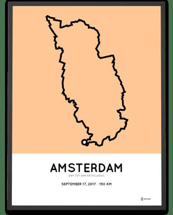 2017 Dam to Dam fietsClassic 150km course poster