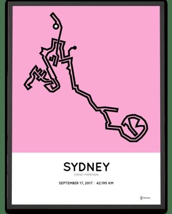 2017 Sydney marathon course print
