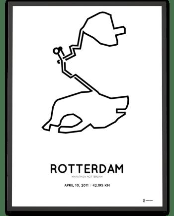 2011 Rotterdam marathon course poster