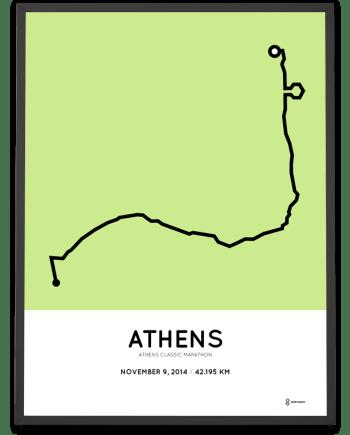 2014 Athens classic marathon course poster