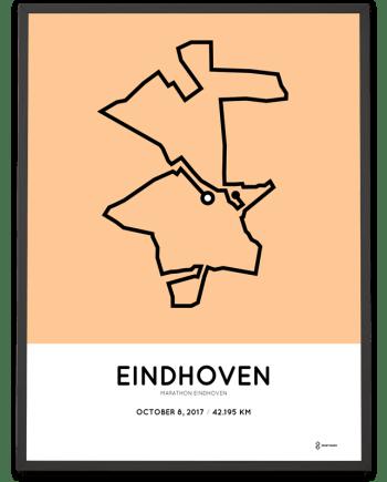 2017 Eindhoven marathon route poster
