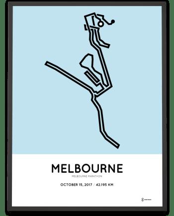 2017 Melbourne marathon course poster