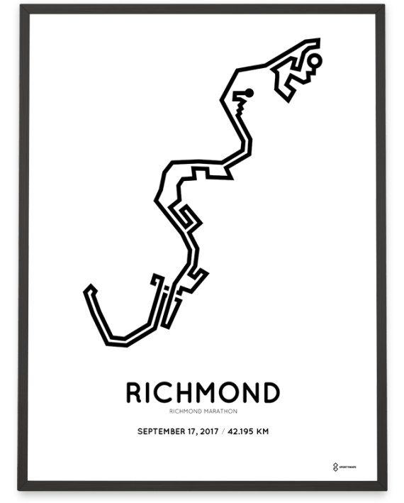 2017 Richmond-Runfest marathon course postern