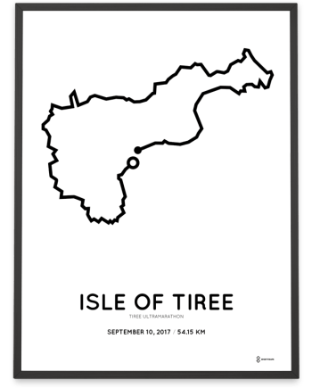 2017 tiree ultramarathon course poster