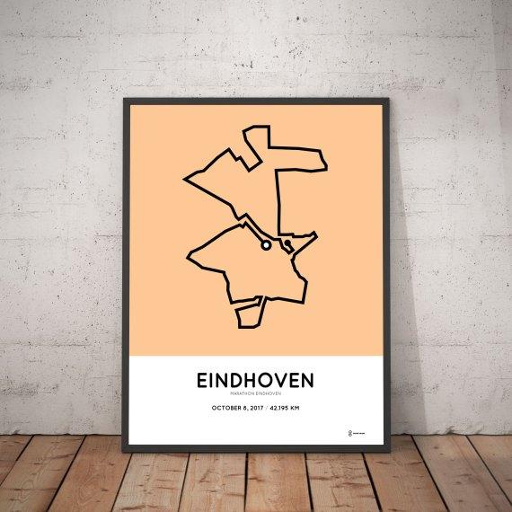 2017 Eindhoven marathon course poster