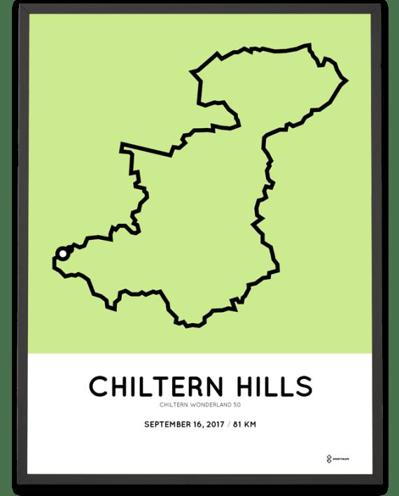 2017 Chiltern Wonderland 50 course poster
