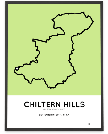 2017 Chiltern Wonderland 50 course poster
