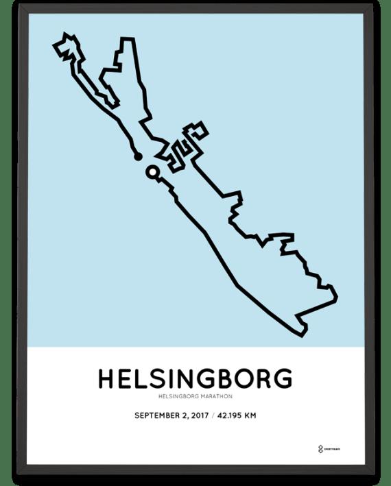 2017 Helsingborg marathon course poster