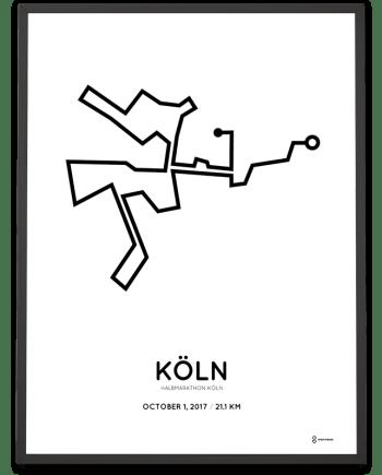 2017 Koln halbmarathon strecke poster