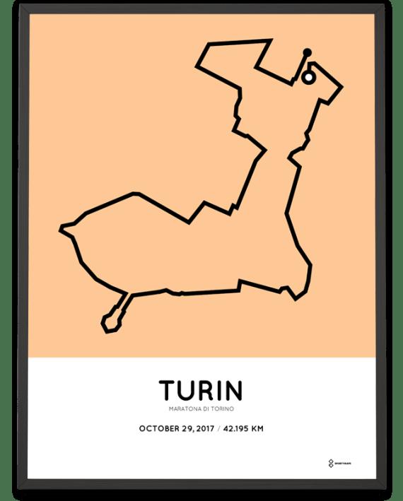 2017 Turin marathon course poster