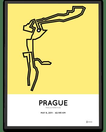 2011 Prague Praha marathon course poster