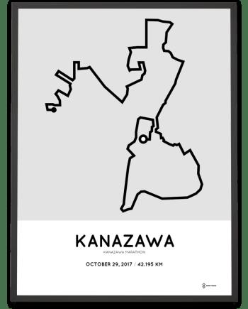201 Kanazawa marathon course poster