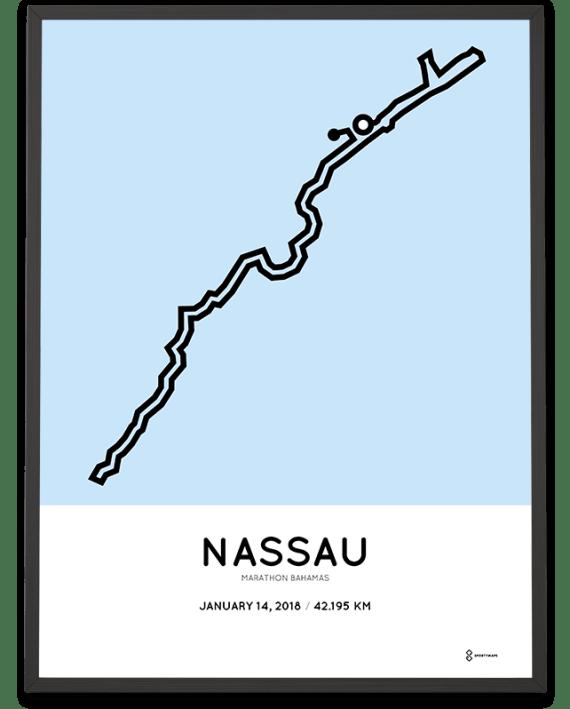 2018 Bahamas marathon course poster