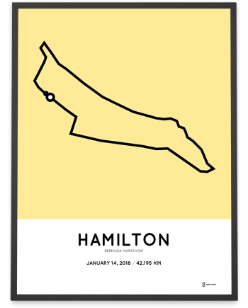 2018 Bermuda marathon course poster