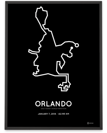 2018 Walt Disney world marathon course poster