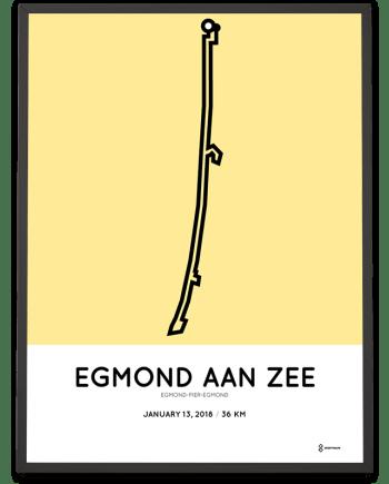 2018 Egmond-pier-egmond course poster