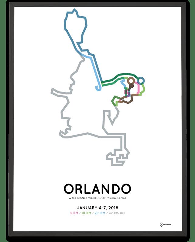 2018 Walt Disney World Dopey Challenge print