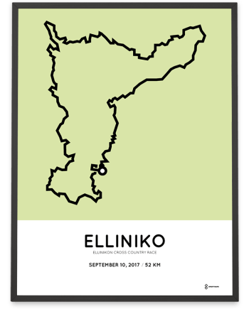 2018 Elliniko cross country race 52km course poster