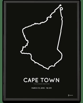 2018 2Oceans marathon parcours poster