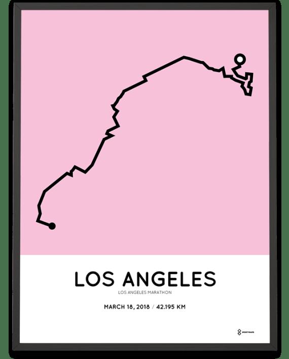 2018 Los Angeles marathon course print