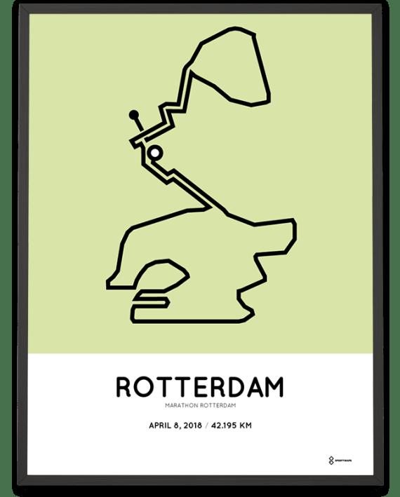 2018 Rotterdam marathon route poster Sportymaps