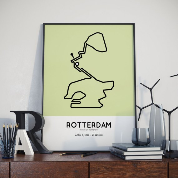 2018 Marathon Rotterdam sportymaps parcours print