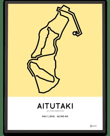 2018 Aitutaki marathon course poster