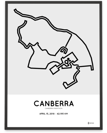 2018 Canberra marathon course poster
