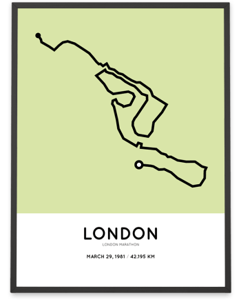 1981 London marathon course poster
