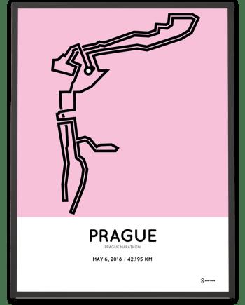 2018 Prague marathon route poster