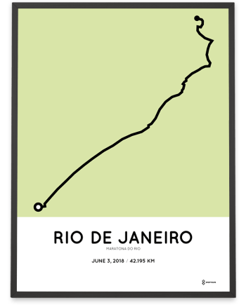 2018 maraton do rio course poster