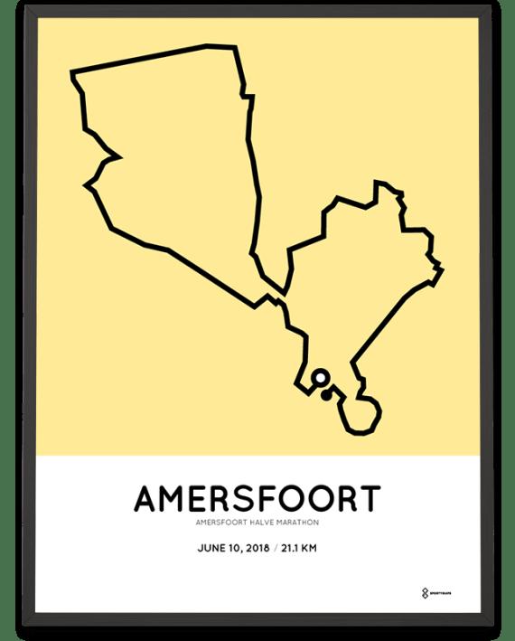 2018 Amersfoort halve marathon parcours poster
