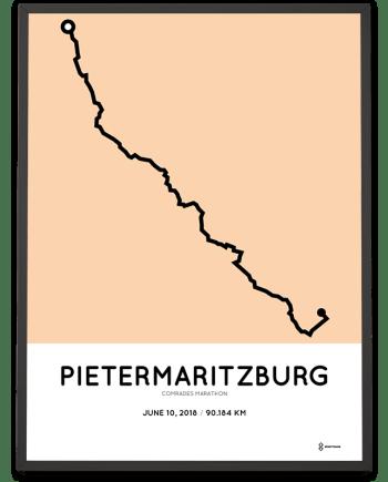 2018 Comrades marathon course poster
