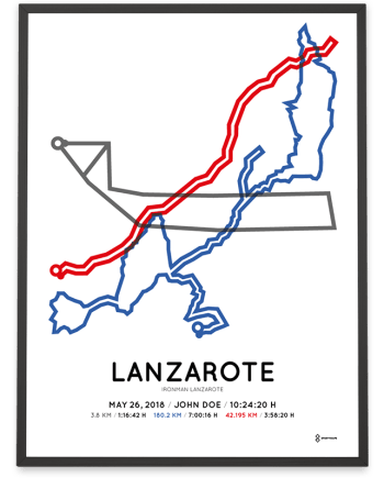2018 Ironman Lanzarote parcours poster