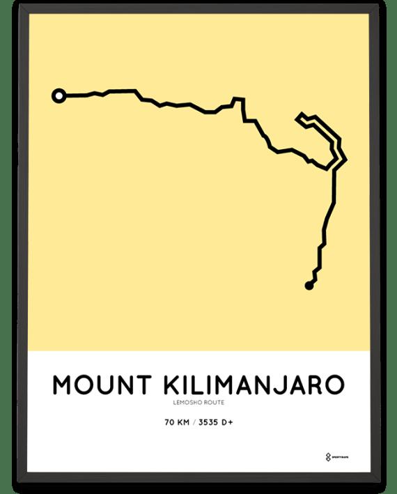 Kilimanjaro Lemosho route poster