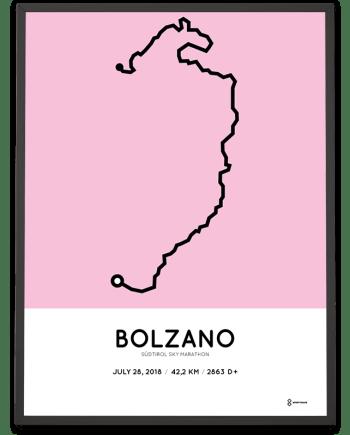 2018 Sudtirol sky marathon route poster