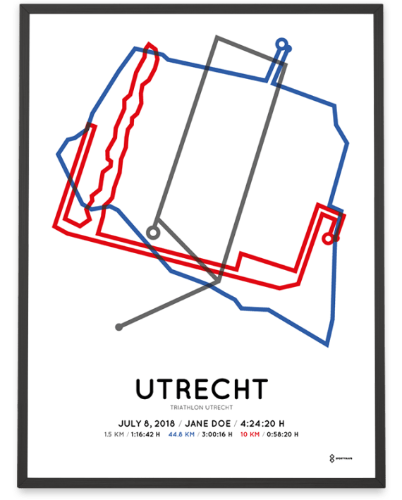 2018 Triathlon utrecht route print