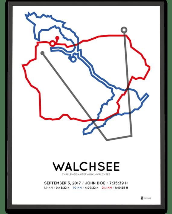 2017 Challenge Walchsee strecke map poster