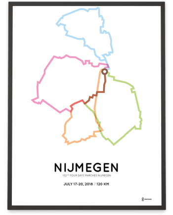 2018 Four days marches 120km course poster
